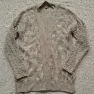 A New Day Sweater Cardigan Open Front Belted Knit